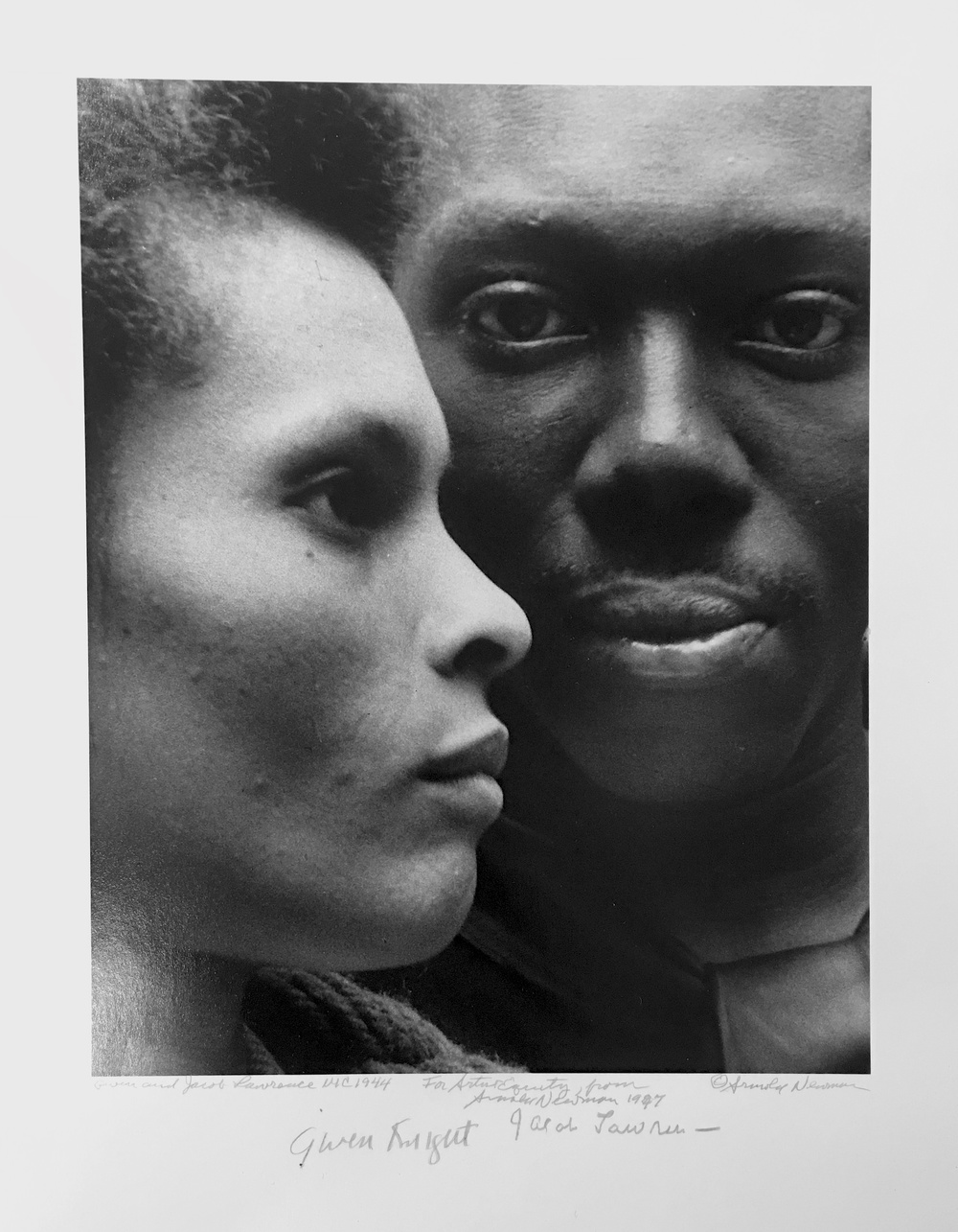 Jacob Lawrence with Gwendolyn Knight Lawrence