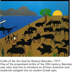 Romare Bearden - Cattle of the Sun God